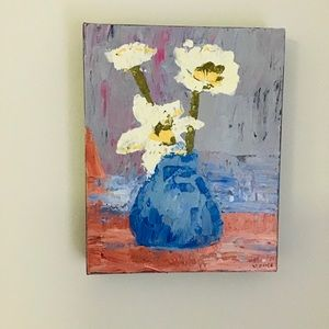 Expressionist Painting The Blue Vase Original Art